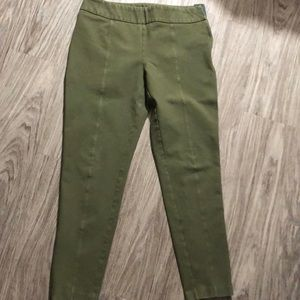 Lands End green ankle zipper mid rise pants
